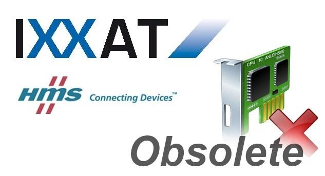 IMPORTANTE - HMS comunica l'obsolescenza di una serie di prodotti a marchio IXXAT