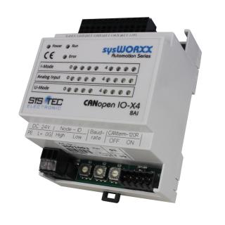 Systec CANopen IO-X4, 8AI