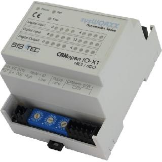 Systec CANopen IO-X1 16DI / 8DO